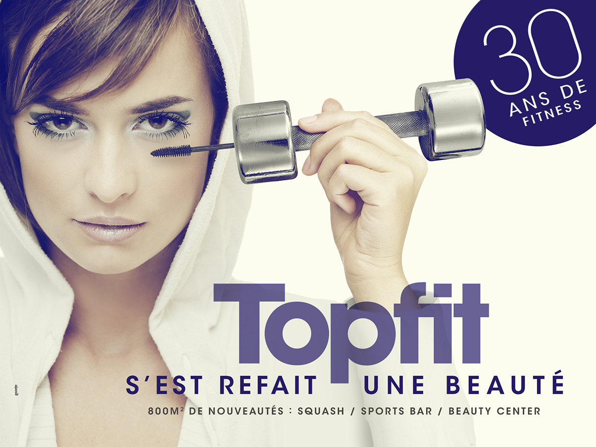 Campagne d'affichage TopFit Antibes